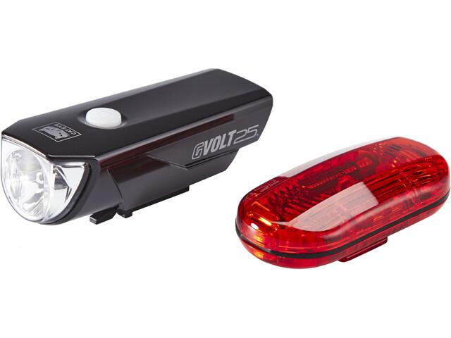 CatEye GVOLT25/OMNI3G Kit d'éclairages EL360GRC/LD135G, black